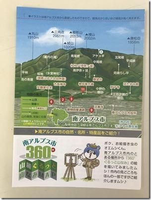 南アルプス市360°山麓ぐるっとマップ☆完成!